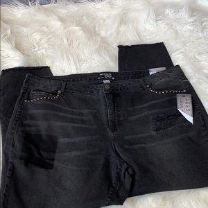 Ruff Hewn Grey Black Skinny Jean